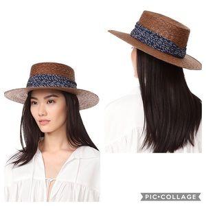 Janessa Leone Louis Bolero Straw Hat Brown